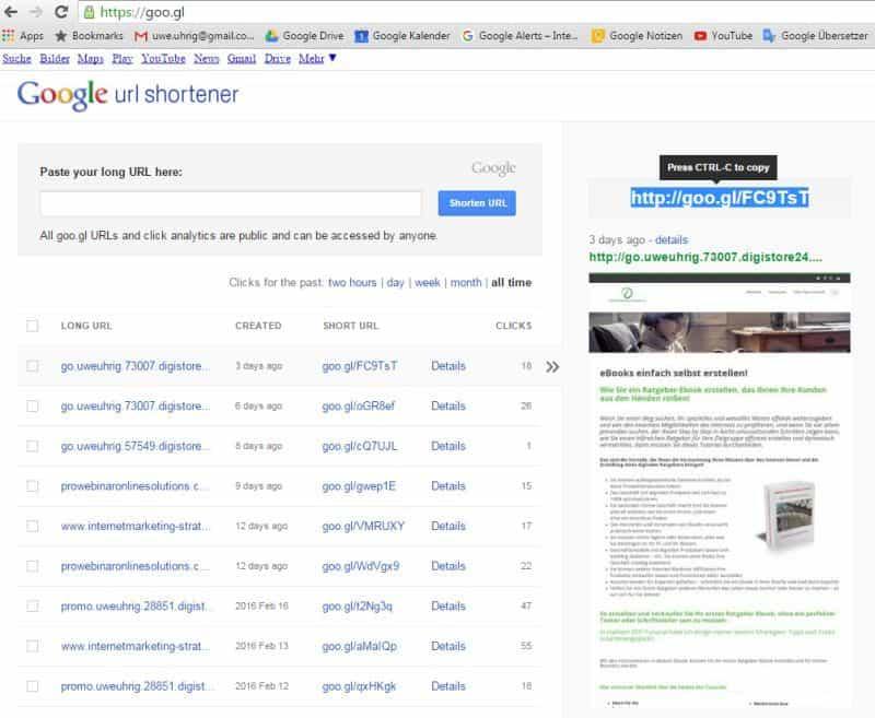 URL's kürzen